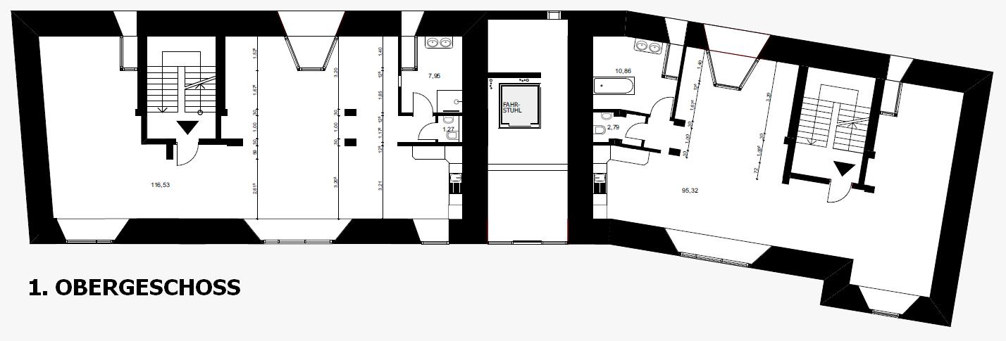 Grundriss 1. OG Bunkerloft