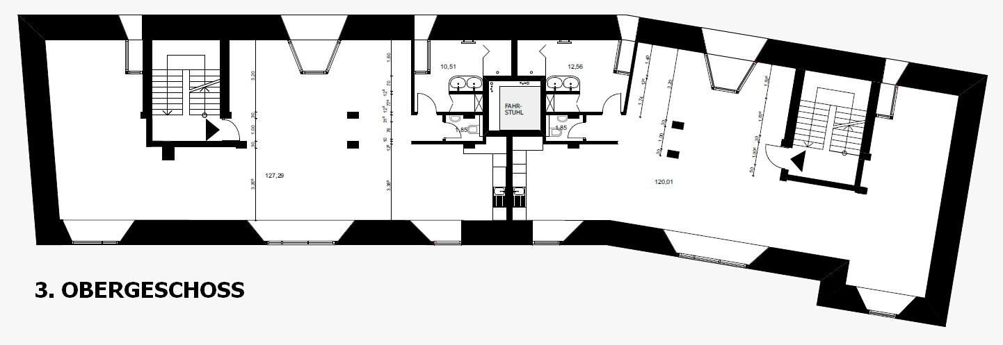 Grundriss 3. OG Bunkerloft